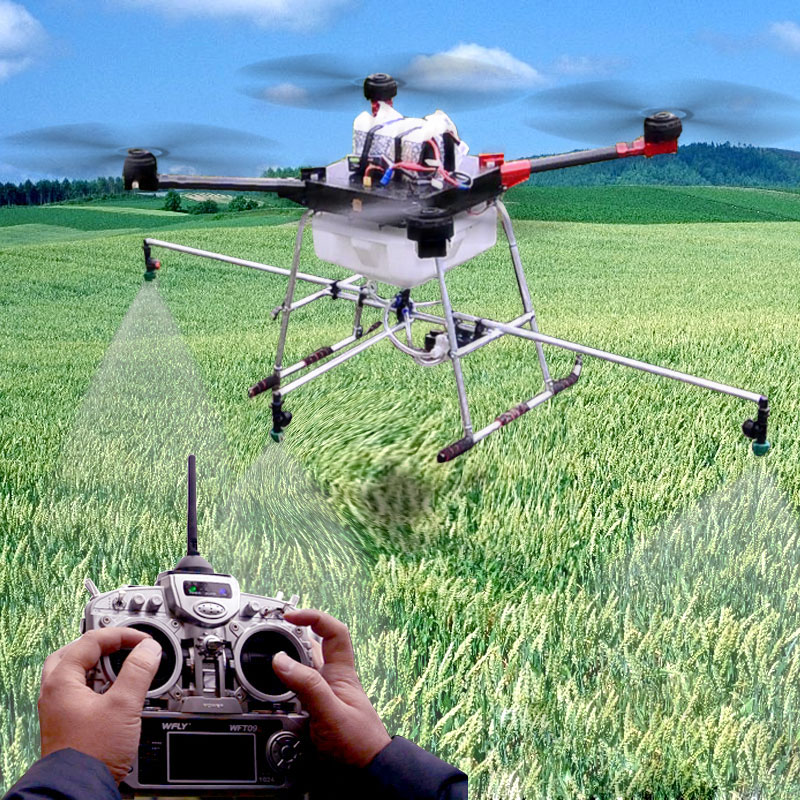 10KG Pesticide spraying system Agricultural crop protection for DIY Agricultural multi rotor wdiy UAV drones pesticides wdiy motor2204 2300kv qav x qav210  4s