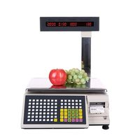 free shipping Commercial TM Ad electronic scanner scale weighing scale label printing barcode printing