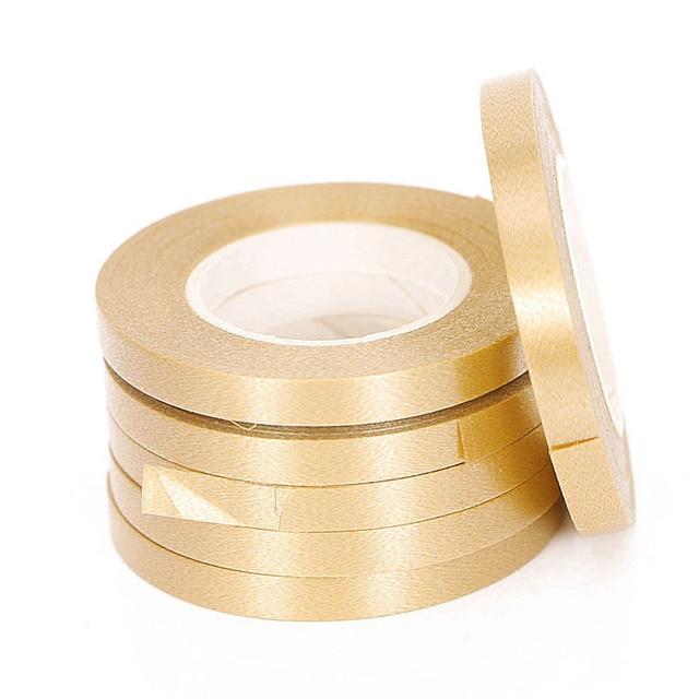 5 Pz/lotto 10 M Foil Palloncino Laser Nastro in Oro Rosa Palloncino Stringhe Partito & di Evento Forniture di Curling di Compleanno di Cerimonia Nuziale Del Partito decorazione 2