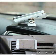 Free Ship Universal Magnetic Ball Car Mount Holder GPS Mobile FOR iPhone 5 6 FOR Samsung S5 S6 Note FOR HTC Rotatable Cell Phone
