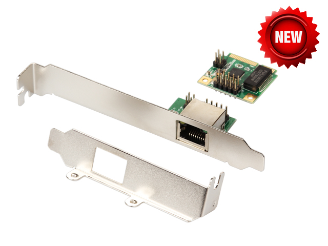 mini PCIe Gigabit Ethernet Network Card For Mini ITX mini PCI-e to RJ45 Port adapter 10/100/1000 Base-T Network LAN Controller mst6m48rhs lf z1