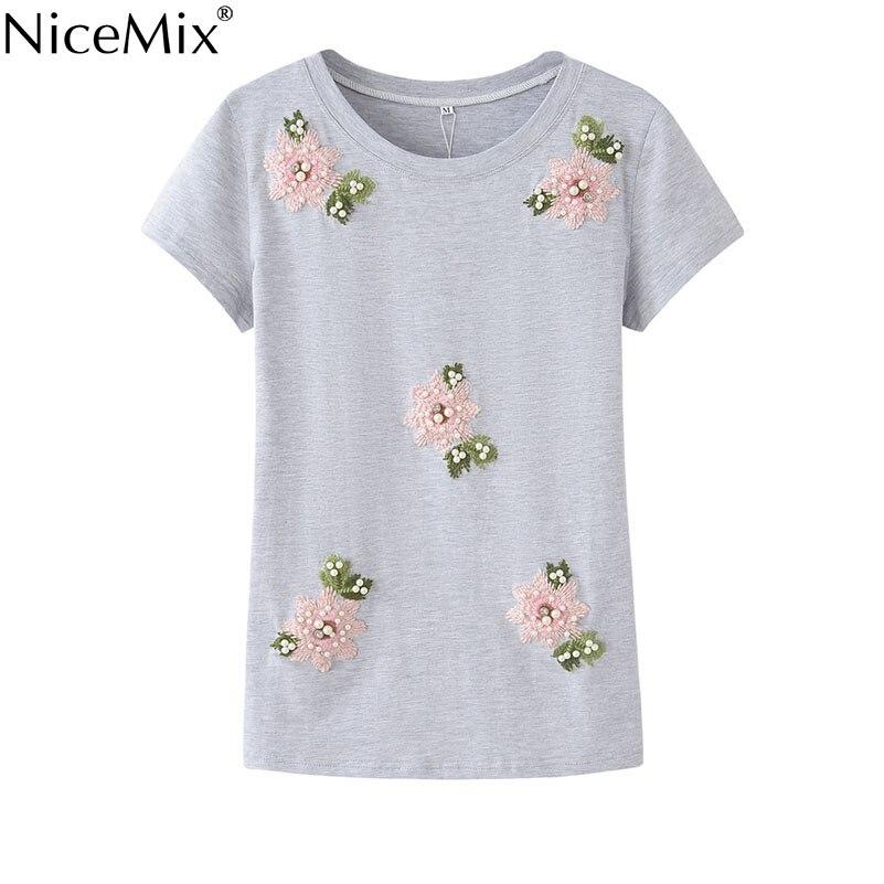 NiceMix 2019 Vasaras ikdienas T-krekli Sieviešu īsās piedurknes T - Sieviešu apģērbs