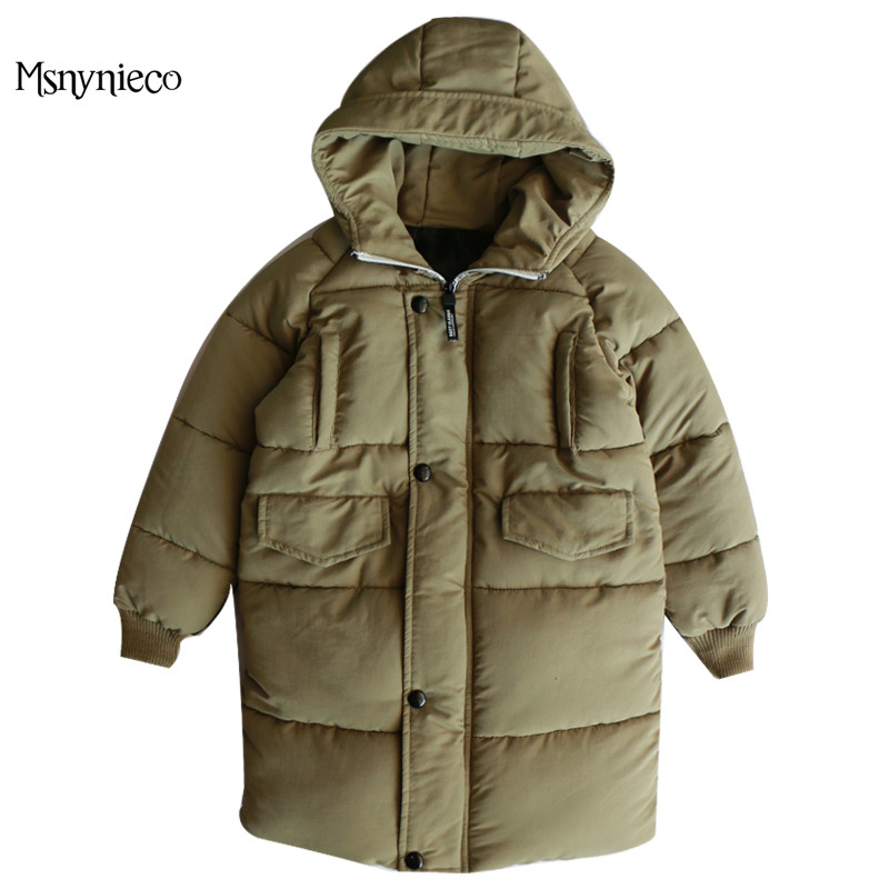 Winter Boys Parkas Coats For Kids Outerwear 2017 Winter Cotton-Padded Jackets Children Clothing 8 10 12 Years Thick Snowsuits