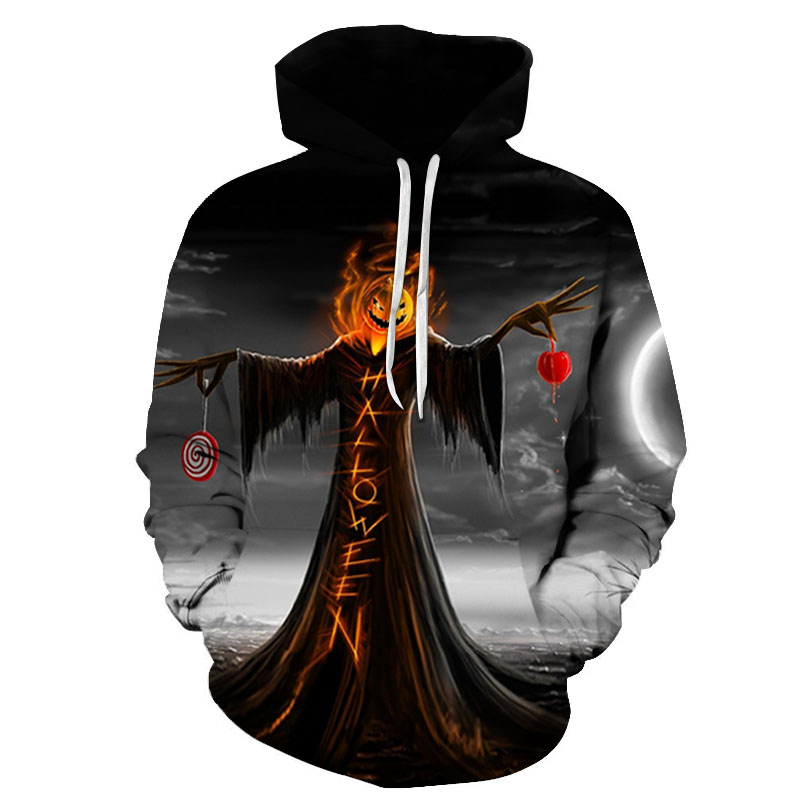 Halloween party gift skull jack pumpkin 3D Hoodies Sweatshirts Men Women Hoodie Casual Tracksuits Fashion Brand Hooded Coats