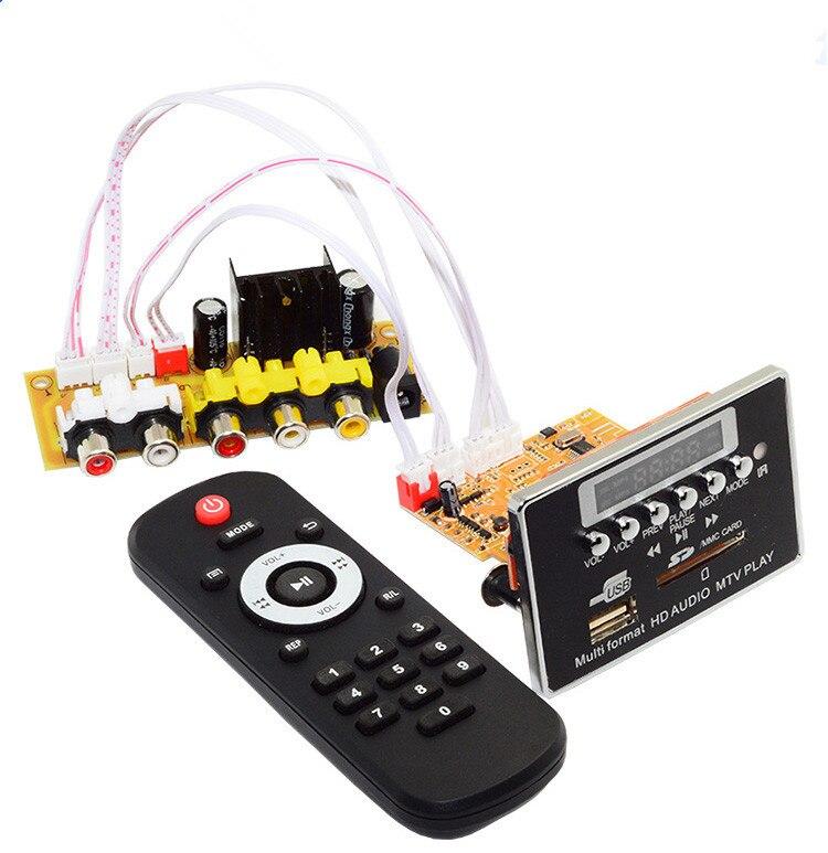 Conversion 12 V prise en charge Bluetooth FM SD TF USB image vidéo mode audio ebook avec TV existante peut être assorti