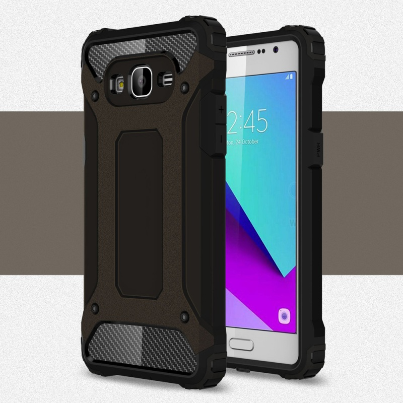 big sale 54ddf aa7d8 US $3.89 |Dulcii Back Cover for Galaxy J2 Prime Phone Shell Guard Plastic +  TPU Hybrid Case for Samsung Galaxy J 2 Prime Mobile Phone Bag-in Fitted ...