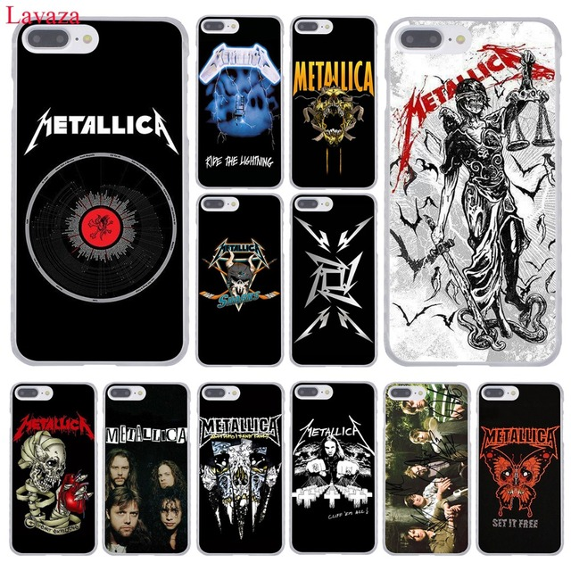 lavaza metallica band group hard phone case for apple iphone xr xs max x 8 7