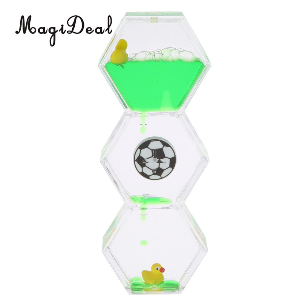 Rhombus Shape Mix Illusion Floating Rotating Slim Oil Clock Timer Hourglass Desktop Motion Toy Home Decoration ...