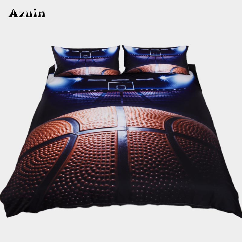 3pcs/lot Basketball Queen Comforter Sets Bedding King Twin Size Luxury 3d Bed Cover Duvet Cover Sheet Set Linen Home Textiles