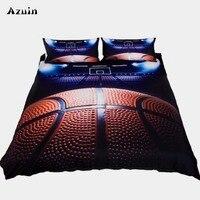 3pcs/lot Basketball Queen Comforter Sets Bedding King Twin Size Luxury 3d Bed Cover Duvet Cover Sheet Set Linen Home Textiles
