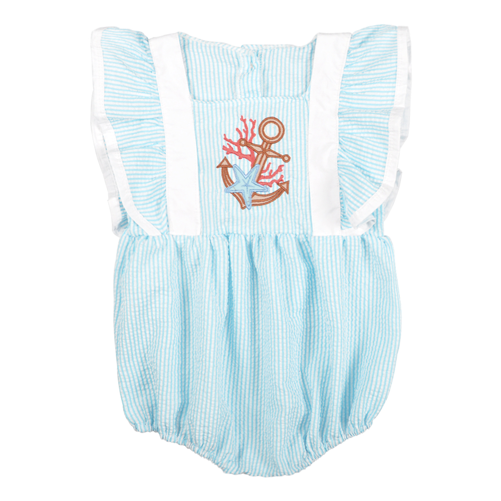 Baby Girl Romper Summer CONICE NINI Girl Clothes Bubble Puff sleeve Embroidery Blue Newborn Boutique Baby Girls Romper in Bodysuits from Mother Kids