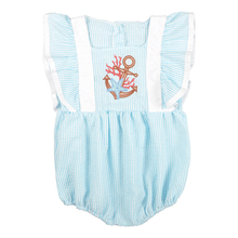 Baby Girl Romper Summer CONICE NINI Clothes Bubble Puff sleeve Embroidery Blue Newborn Boutique Girls