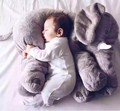 high quality big ears gray 60cm elephant plush soft toy stuffed baby doll kids toy big size anminal sleep pillow gift for child