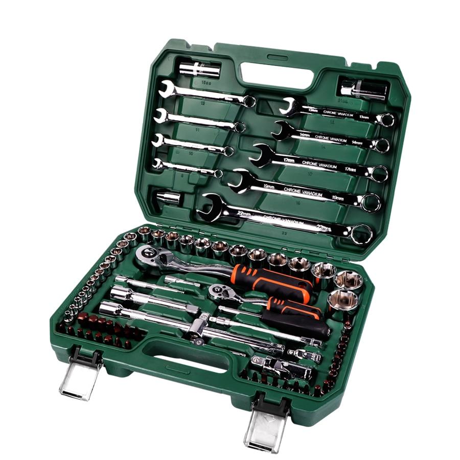Strumenti di Strumenti di Riparazione auto Meccanico Set di 121 PC 150 pcs Socket Wrench Strumenti per Auto Chiave A Cricchetto Cacciavite Socket Set chiave esagonale - 4