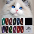 1 Bottle 10ml BORN PRETTY Magnetic Cat Eyes Gel Soak Off Led UV Gel Nail Polish Magnetic Gel Lacquer No Black Base Needed