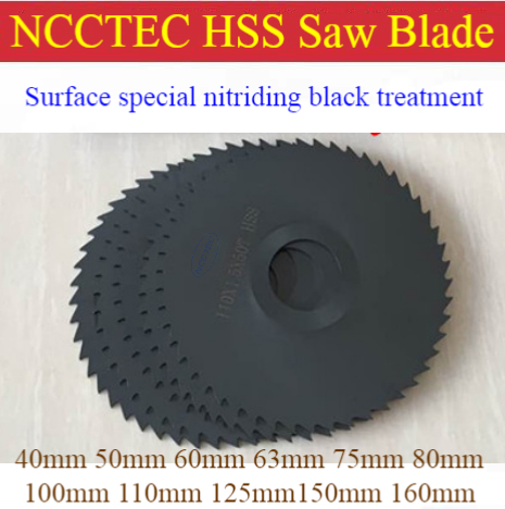3'' Inch 75mm Nitride HSS Saw Blades For Metal Dremel Cutoff Rotary Cutting Discs For Stainless Steel Industrial Milling Machine