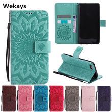 Роскошный кожаный чехол бумажник с 3d изображением солнца и