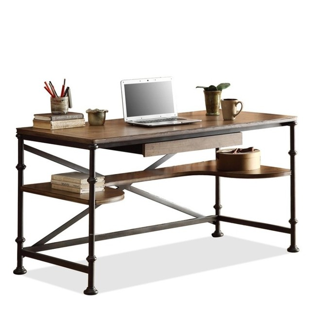 american retro to do the old wrought iron dining table office