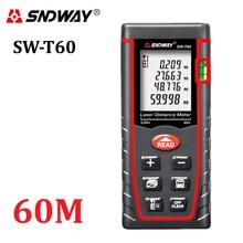 Echtes SNDWAY 60 mt Digitale laser-entfernungsmesser RZ60 197ft entfernungsmesser entfernungsmesser Bereich-volumen-Winkel Tester tool