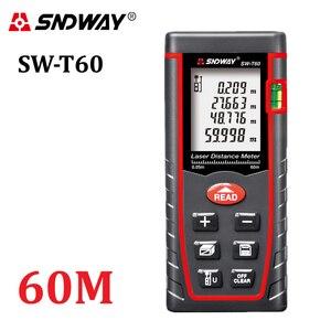Image 1 - Genuine sndway 60m digital laser rangefinder rz60 197ft medidor de distância range finder área ferramenta de testador de volume ângulo