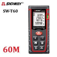 Orijinal SNDWAY 60m dijital lazer telemetre RZ60 197ft mesafe ölçer mesafe bulucu alan ses düzeyi açı test aracı
