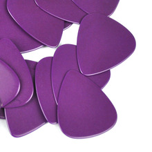 100pcs/lot Solid Purple 0.71mm Medium Celluloid Guitar Picks Plectrums for Acoustic Electric Guitar Bass professional solid top acoustic electric bass guitar with turner