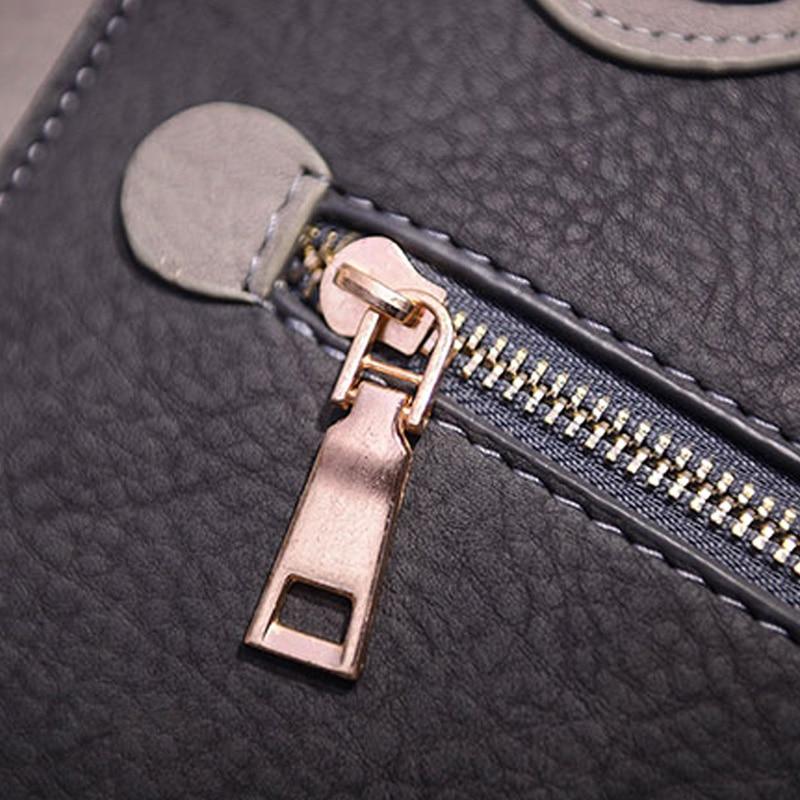 de couro pu mulheres sacolas Color : Pink/black/gray/khaki/red