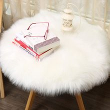 New Soft Sheepskin Big Rug Chair Cover Artificial Wool Warm Hairy Carpet Bedroom Mat Seat Pad Skin Fur Area Rugs Warm Artificial(China)