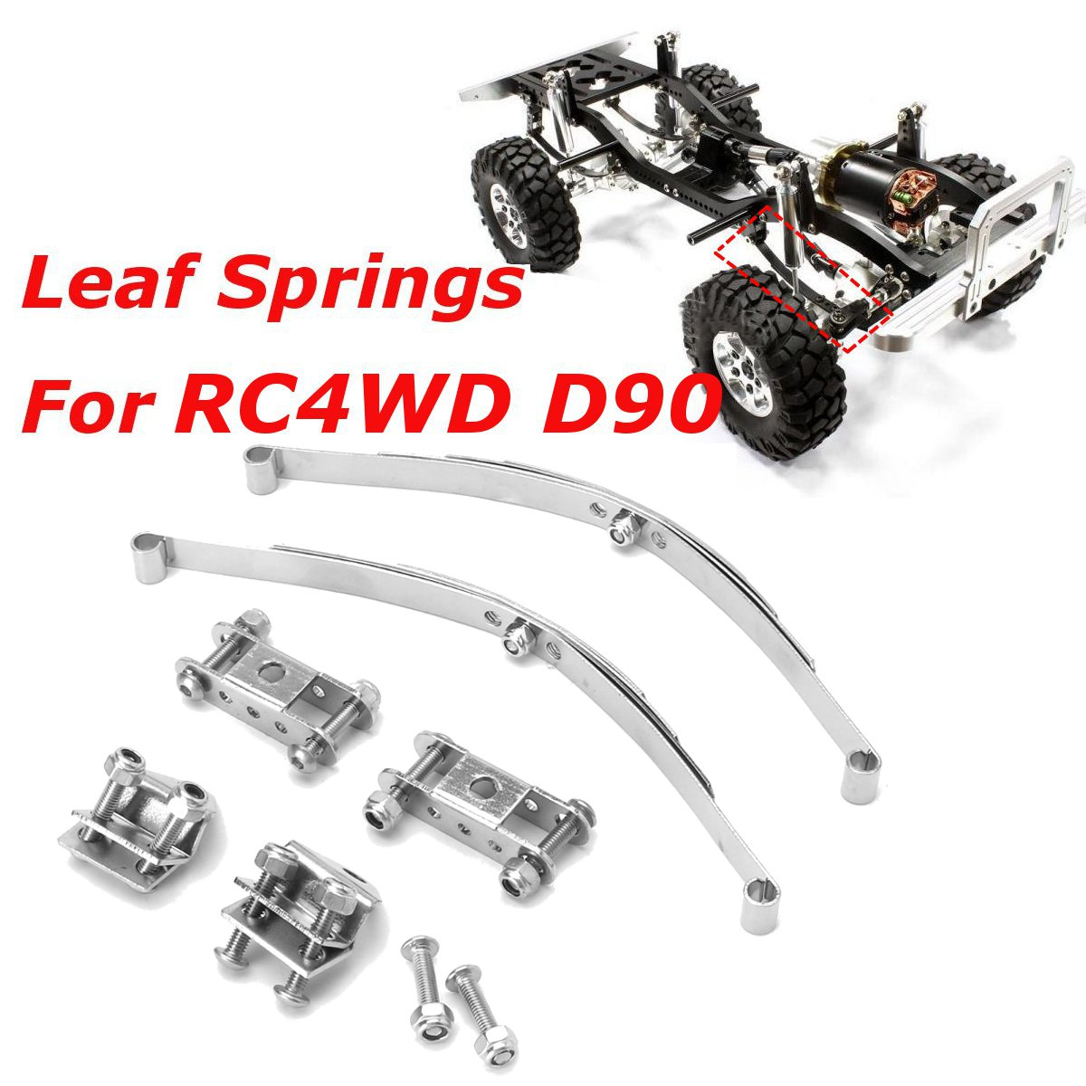 1/10 Leaf Springs Set HighLift Chassis For D90 RC Crawler Car Parts ...