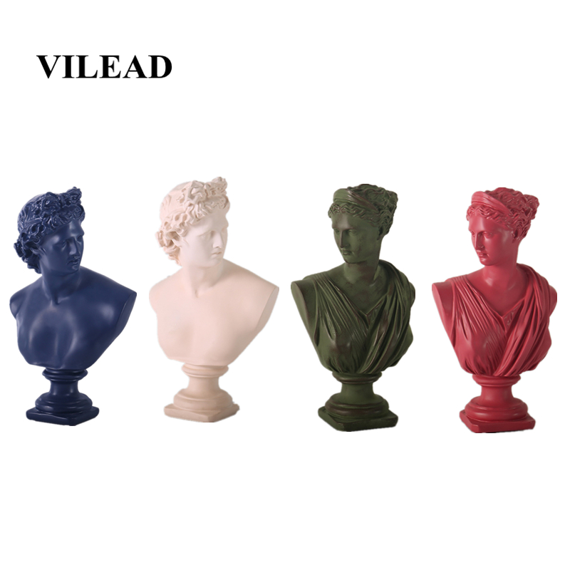 VILEAD 32cm Resin David Anna Statue Male God Nordic Creative Ornaments Simple Statuettes Modern Art Home Decoration Accessories