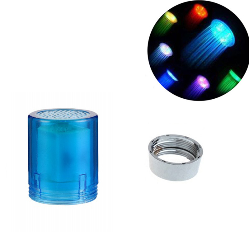 Multicolor fast flashing Cheap Priced LED Water faucet light with adaptor for muslim wedding gift with blister packing
