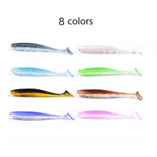 GUGUFISH Soft Lure 10cm /4.8g 7pcs/lot Swimbaits Artificial Bait Double color Carp Tackle Fly Fishing Fishing Lures