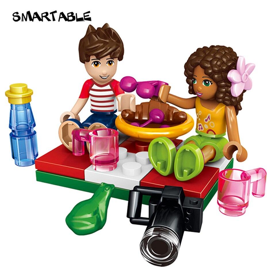 Купить с кэшбэком Smartable Girl Friend Building Block Heartlake Hot Air Balloon Figure Bricks Toys sets For Gilrs Christmas Birthday Gift