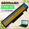 6600mAh 11.1v  Laptop Battery for Lenovo IdeaPad Y450 Y450A Y450G Y550 Y550A Y550P 55Y2054 L08L6D13 L08O6D13 L08S6D13 9 cells
