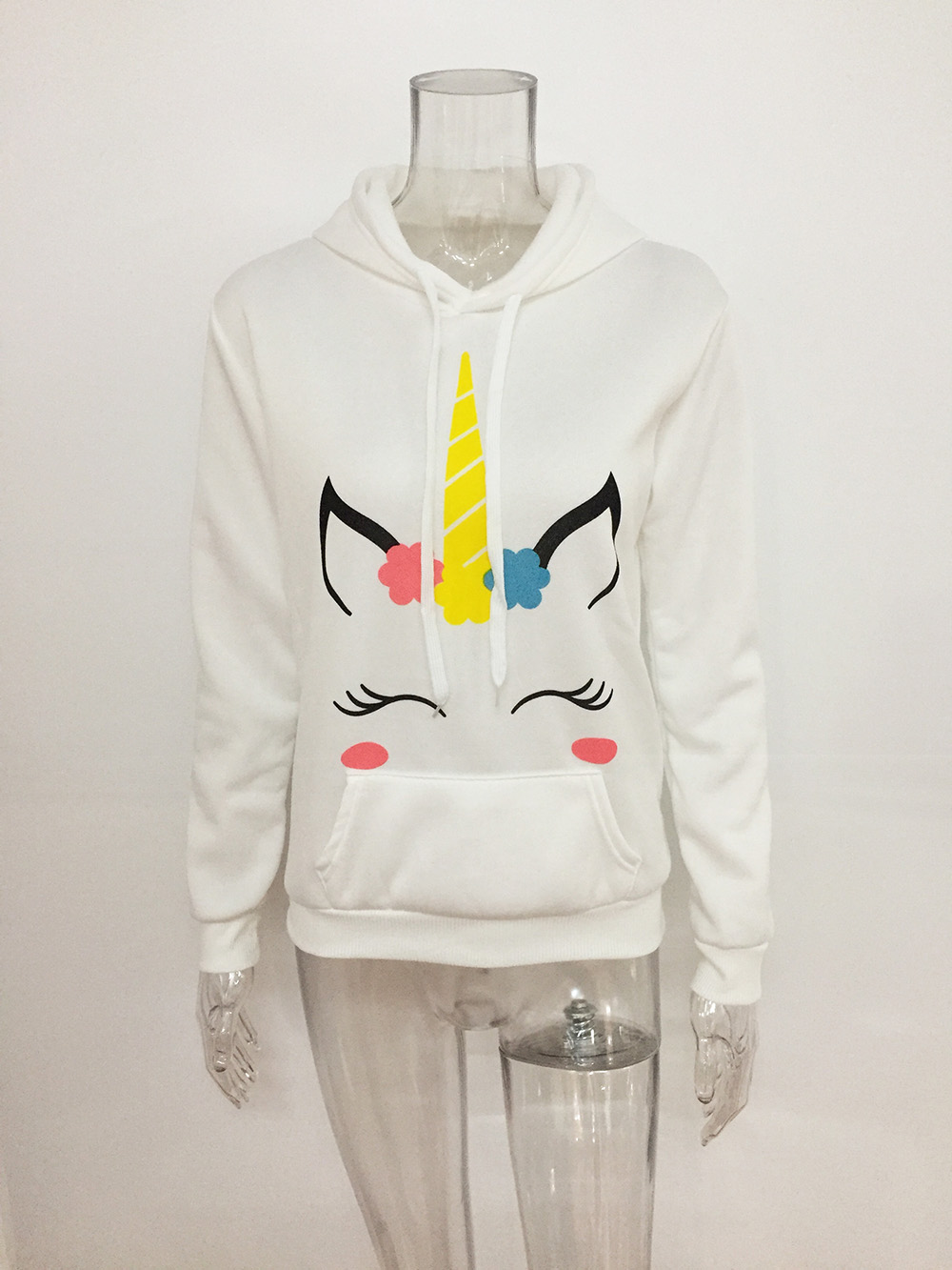 Модная женская куртка с героями мультфильмов, приталенный пуховик с капюшоном, зимняя куртка с единорогом, Женская куртка с хлопковой подкл... - 3