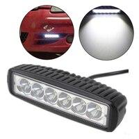 For J/EEP 12 volt 2pcs 6 Inch Spot single row 18W 4x4 truck offroad car LED work Light Bar