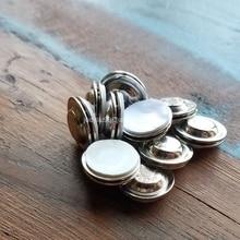 50 개/몫 단추를위한 접착제를 가진 둥근 자석 이름 꼬리표 옷깃 핀 무료 배송