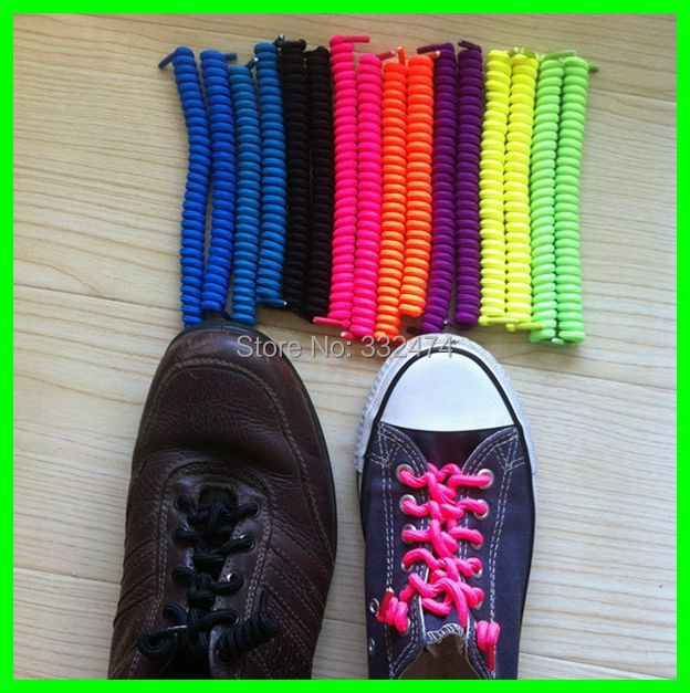 7919bbb9571e New Children Safety Unisex Shoelace Curly Shoelaces Charm No Tie Elastic  Shoe Laces