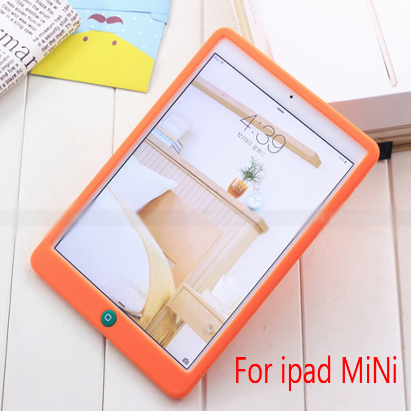 NEW Jelly Bean Cute Smart Soft Silicone Rubber Protective Case  For ipad Mini 2 3 Children Soft Silicone Case Cute case new cute leopard fur mouse mink tail soft ptotective jelly case silicone cover for iphone 5s 5 rose