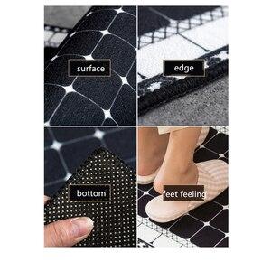 Image 5 - Etnische Gedrukt Keuken Mat Set Vuil Proof Lange Tapijt Hal Deurmat Nachtkastje Floor Mat Antislip Water Absorptie badkamer Tapijten
