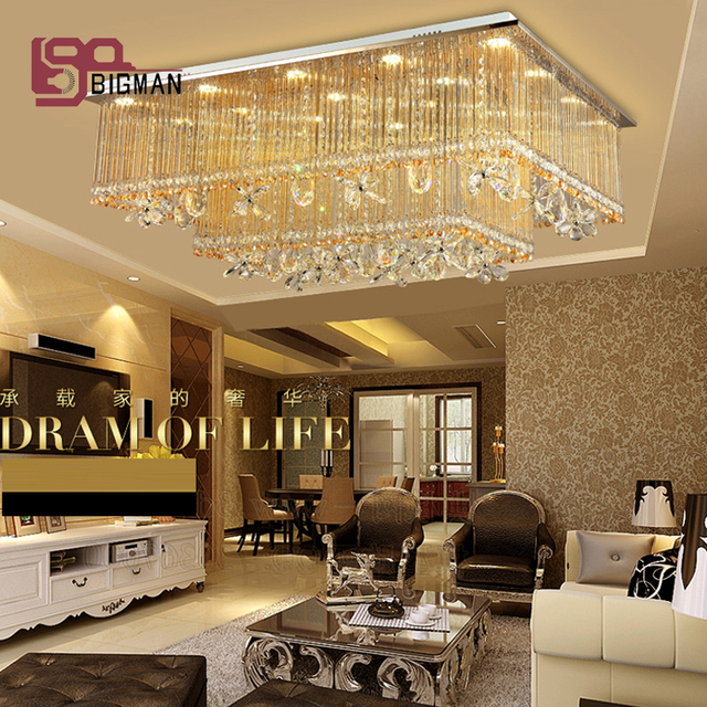 Nuovo design grande lampadario moderno lampade di cristallo moderna ...