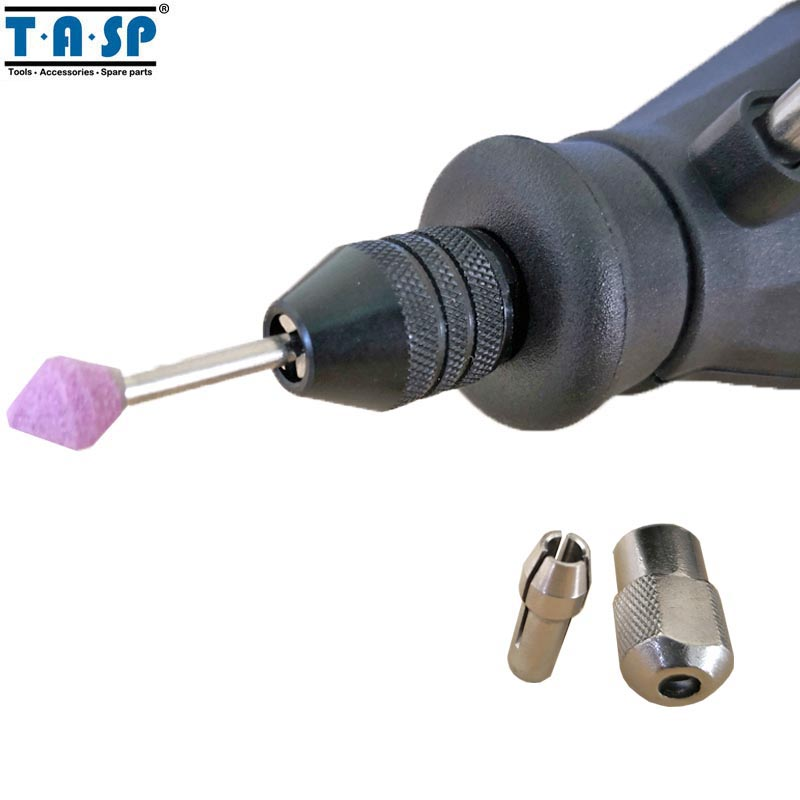 TASP Universal 3 Jaw Mini Chuck sin llave 0.5-3.2mm Collet Mini - Accesorios para herramientas eléctricas - foto 2