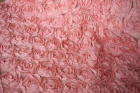 Dust pink rose lace fabric, 3D floral lace , apparel lace fabric, wedding decor lace fabric