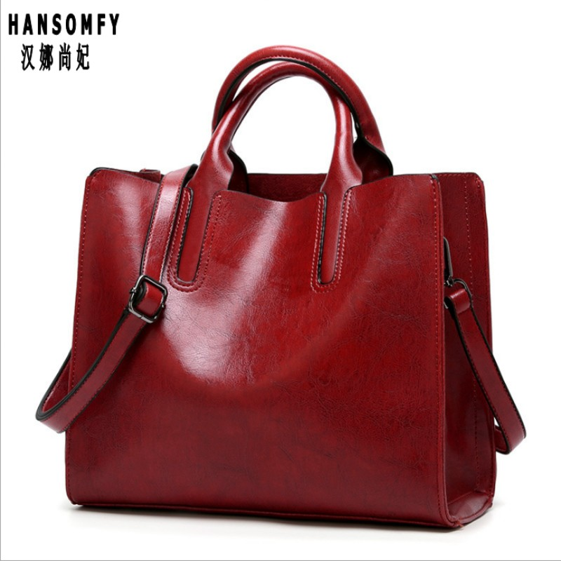 100% en cuir véritable femmes sacs à main 2019 nouveaux sacs à main marchandises transfrontalières Simple sac à main mme mallette épaule Messenger