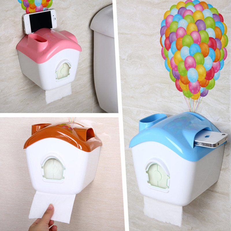Diy Warm Hut Toilet Paper Holder With Wallpaper Placed