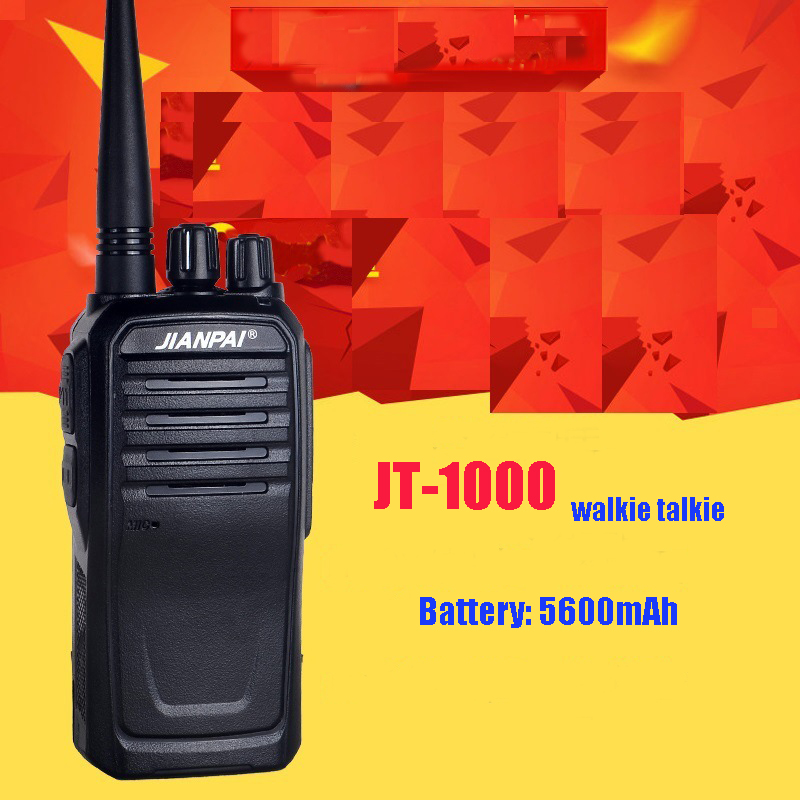 Long standby walkie talkie JP 1000 VHF 136 174mhz powerful 5600mAh battery portable VHF ham radio station-in Walkie Talkie from Cellphones & Telecommunications
