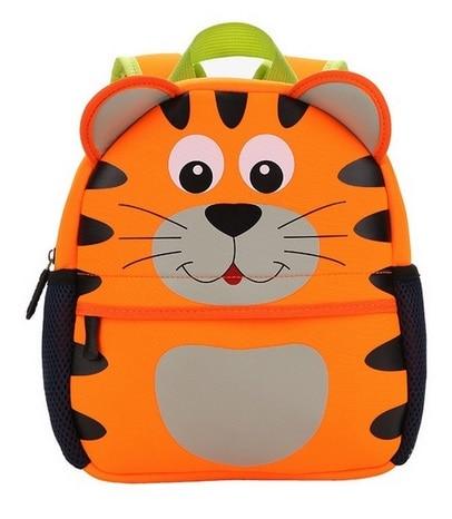 Children 3D Cute Animal Design Backpack Toddler Kid Neoprene School Bags Kindergarten Cartoon Comfortable Bag dog tiger squirrel