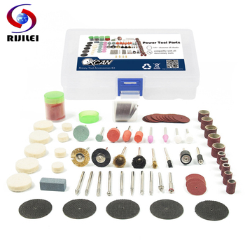 RIJILEI 113PCS Abrasive Stone Points Electric Grinder Dremel Accessories Polishing Grinding Head Wheel For Dremel Rotary Tools rijilei 136pcs dremel rotary tool accessory attachment set kits grinding sanding polishing sander abrasive for grinder