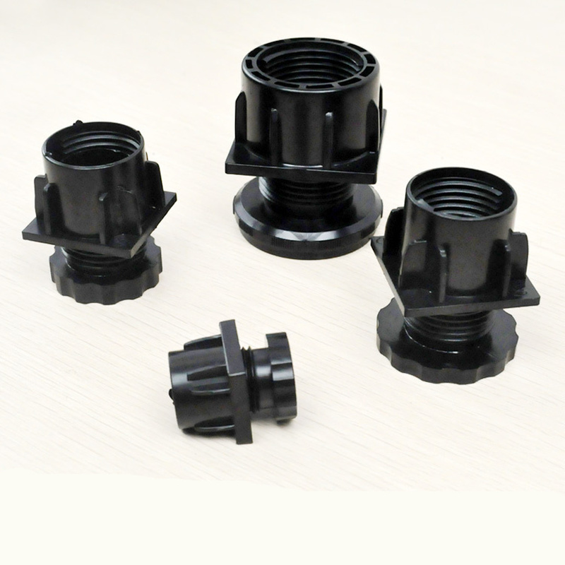 4pcs Screw adjustable Chair feet Black Plastic Furniture Leg Plug Blanking End Cap Bung For Round Pipe Tube Protector Hardware