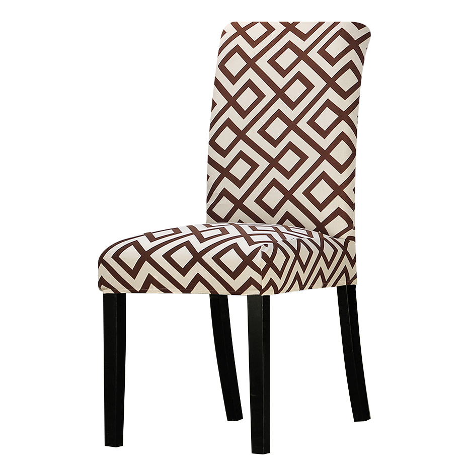 Chair Cover Patterns Us 4 33 30 Off Geometric Patterns Chair Cover Seat Chair Covers Universal Resterant Hotel Party Banquet Slipcovers Home Christmas Wedding In Chair